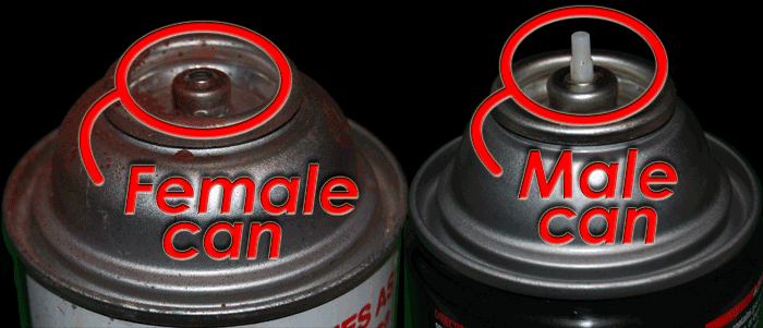 Male and Female Cans